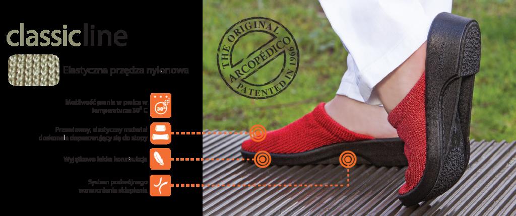 buty zdrowotne arcopedico cechy linii klasycznej